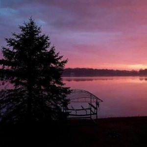 Lake Cora Morning After Rain Storm 12 2 18