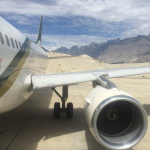 Skardu Airport - Baltistan, in the Karakoram Range